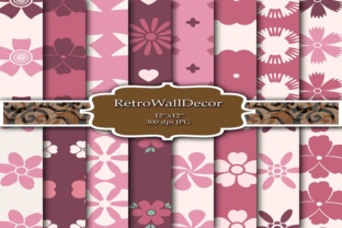 Pink Digital Papers Graphic By retrowalldecor