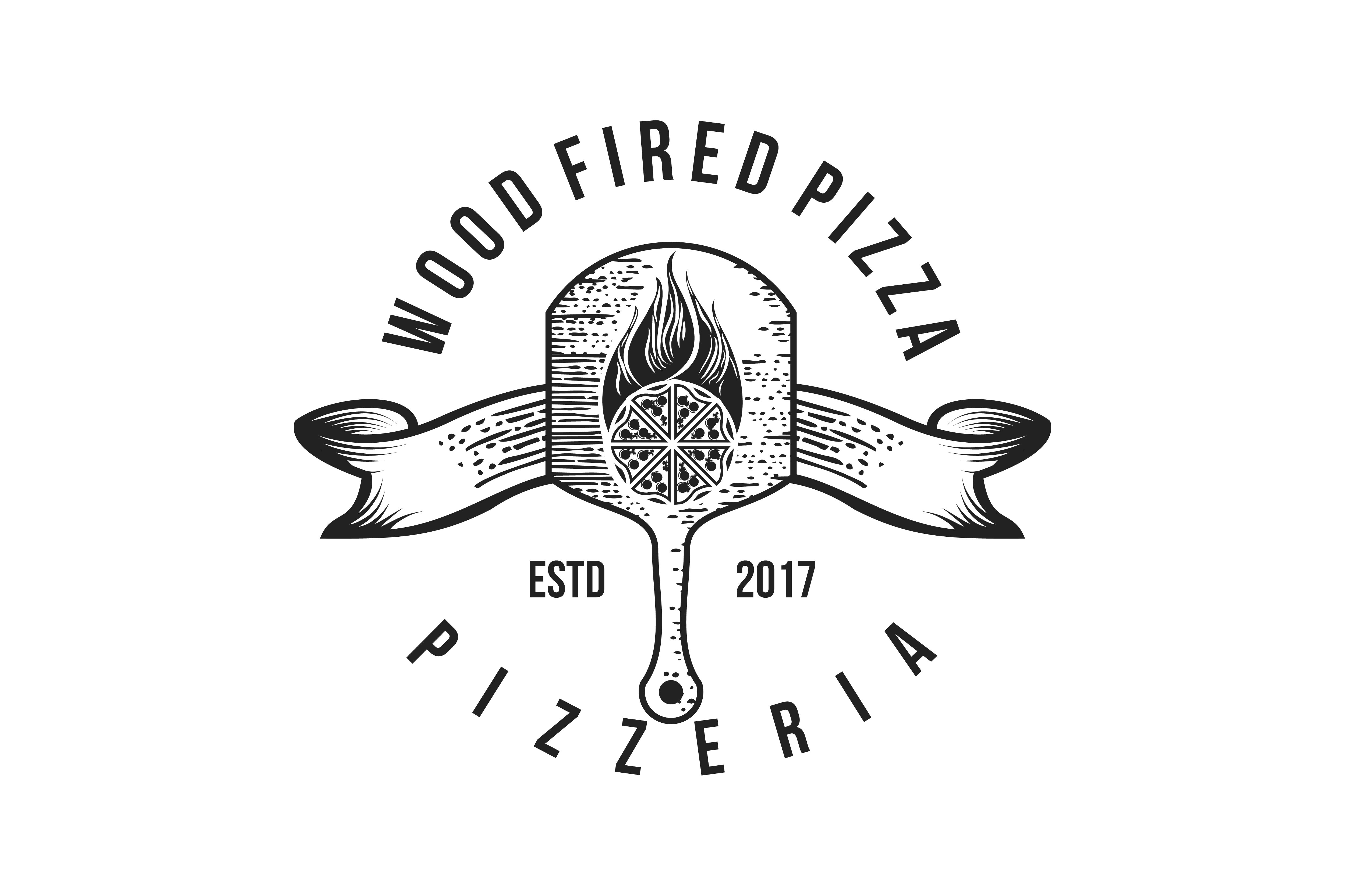 Download Free Pizza Wood Plate Vintage Badges Logo Designs Graphic By for Cricut Explore, Silhouette and other cutting machines.