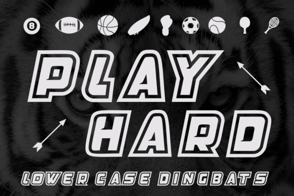 Print on Demand: Play Hard Display Font By Lickable Pixels