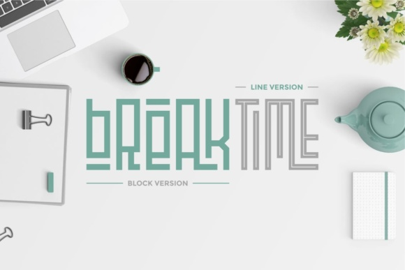 Print on Demand: Playlines Display Font By putracetol - Image 2