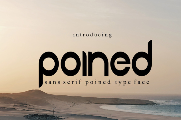 Print on Demand: Poined Sans Serif Font By jehansyah251