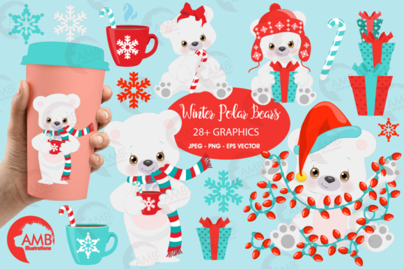 Polar Bears Graphic Illustrations By AMBillustrations