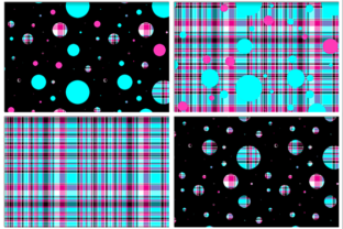 Polka Plaid, Blue & Pink Graphic By Grafix by Kappie