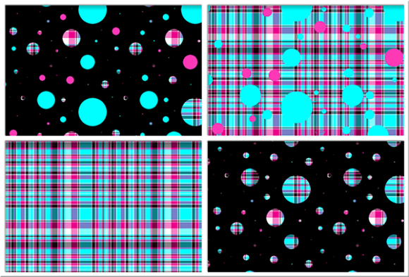 Polka Plaid, Blue & Pink Graphic By Grafix by Kappie Image 1