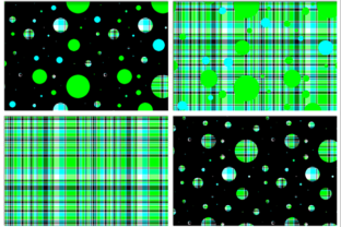 Polka Plaid, Green & Blue Graphic By Grafix by Kappie