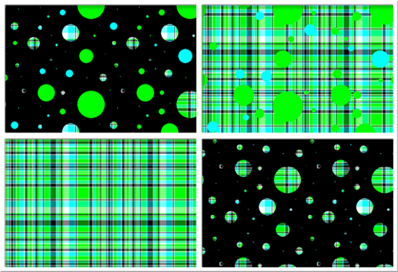 Print on Demand: Polka Plaid, Green & Blue Graphic Backgrounds By Grafix by Kappie - Image 1