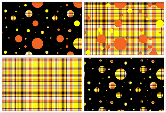 Print on Demand: Polka Plaid, Orange & Yellow Graphic Backgrounds By Grafix by Kappie