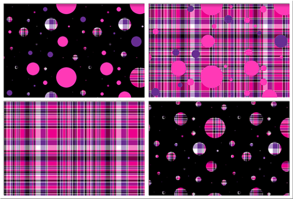 Print on Demand: Polka Plaid, Pink & Purple Graphic Backgrounds By Grafix by Kappie - Image 1