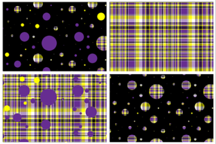 Polka Plaid, Purple & Yellow Graphic By Grafix by Kappie