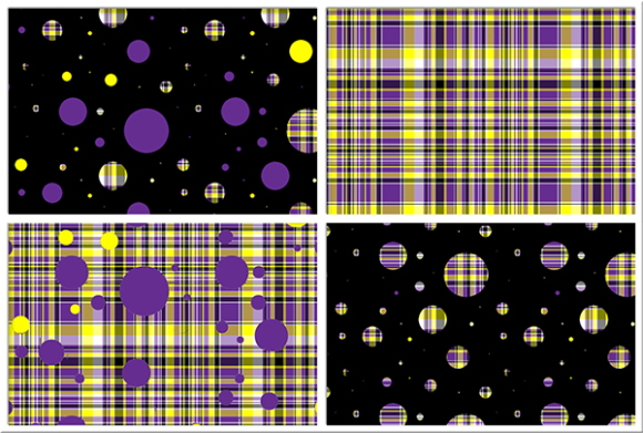 Print on Demand: Polka Plaid, Purple & Yellow Graphic Backgrounds By Grafix by Kappie - Image 1
