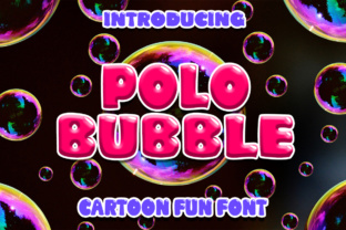 Polo Bubble Font By Boombage