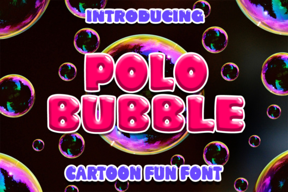 Print on Demand: Polo Bubble Display Font By Boombage