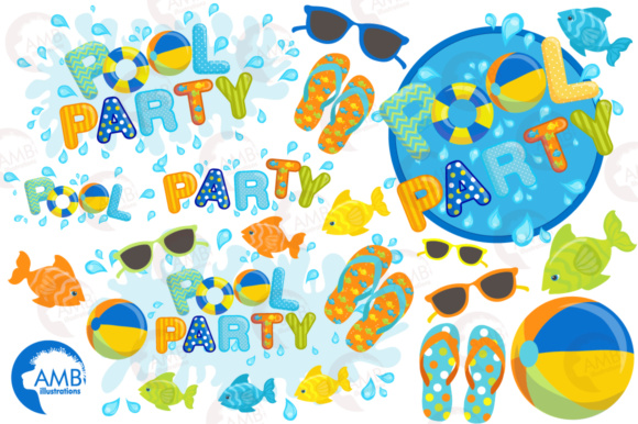 Download Free Pool Elements Clipart Grafico Por Ambillustrations Creative for Cricut Explore, Silhouette and other cutting machines.