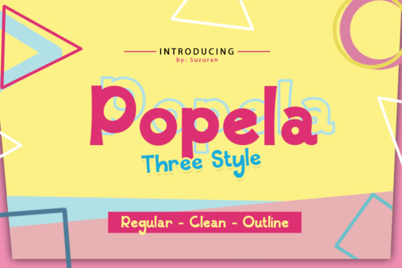 Print on Demand: Popela Display Font By suzurantype