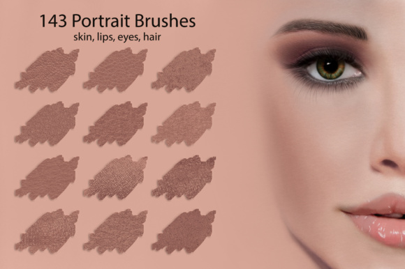 Portrait Brushes for DigitalPainting Graphic Brushes By FaeryDesign