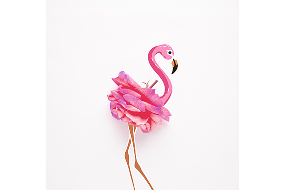 Pretty in Pink Graphic Animals By Sasha_Brazhnik