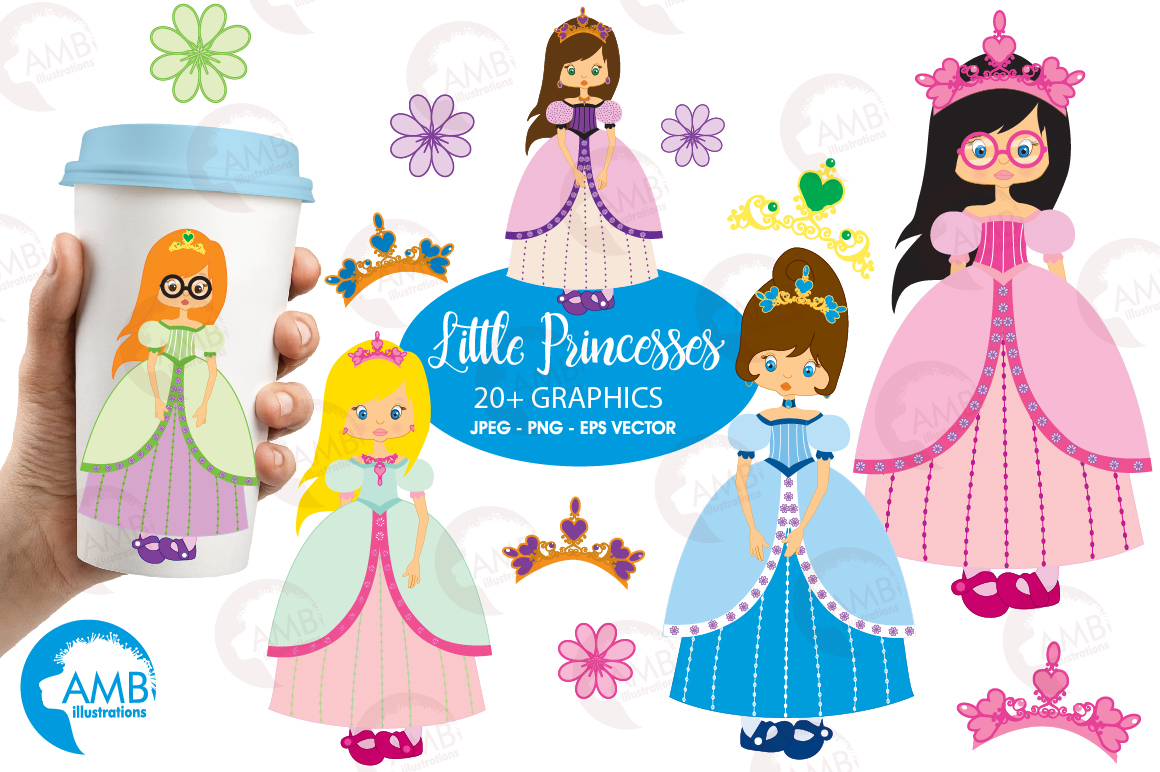 Download Free Princess Clipart Graphic By Ambillustrations Creative Fabrica for Cricut Explore, Silhouette and other cutting machines.