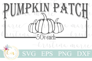 Download Free Pumpkin Patch Cut File Graphic By Kristina Marie Design for Cricut Explore, Silhouette and other cutting machines.