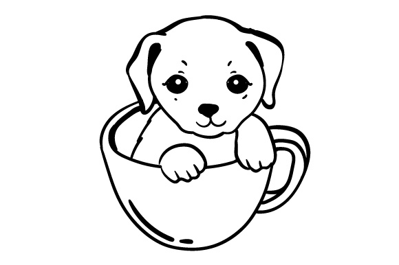 Puppy Mug Dogs Craft Cut File By Creative Fabrica Crafts - Image 2