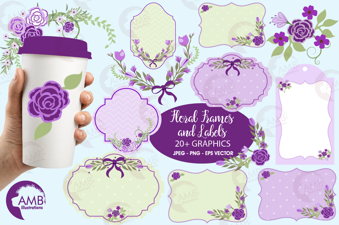 Download Free Purple Frames Clipart Graphic By Ambillustrations Creative Fabrica for Cricut Explore, Silhouette and other cutting machines.