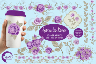 Download Free Purple Roses Clipart Graphic By Ambillustrations Creative Fabrica for Cricut Explore, Silhouette and other cutting machines.