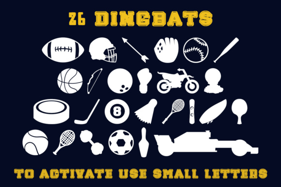 Print on Demand: Push Yourself Dingbats Font By Lickable Pixels - Image 4