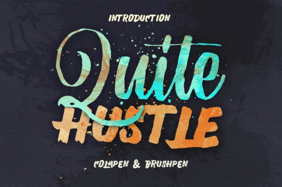 Print on Demand: Quite Hustle Display Font By maghrib