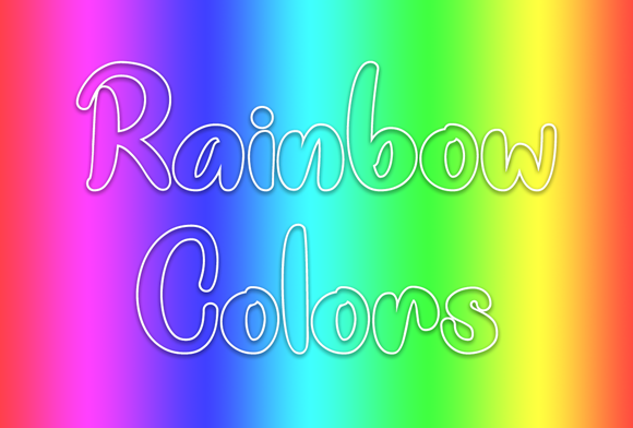 Print on Demand: Rainbow Colors Script & Handwritten Font By Misti