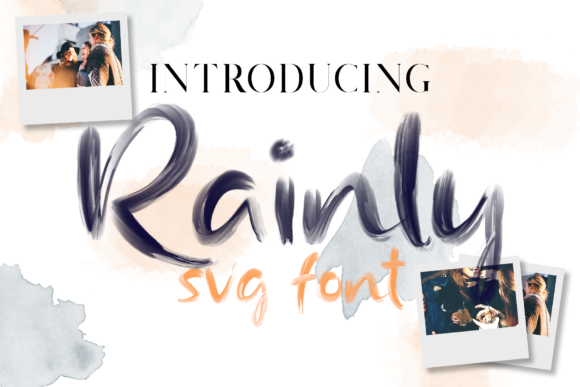 Print on Demand: Rainly  Color Fonts Font By craftsupplyco - Image 6