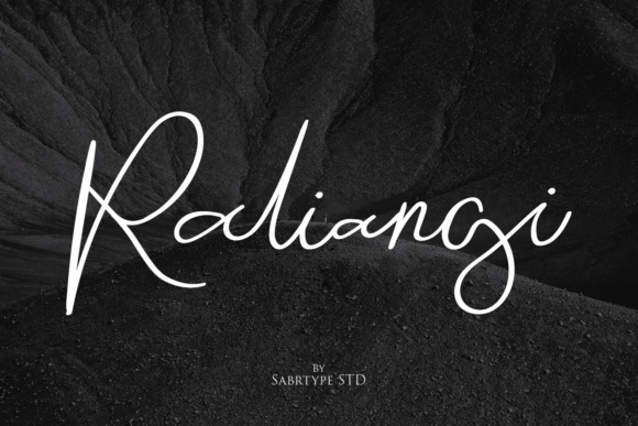 Print on Demand: Raliangi Script & Handwritten Font By sabrcreative