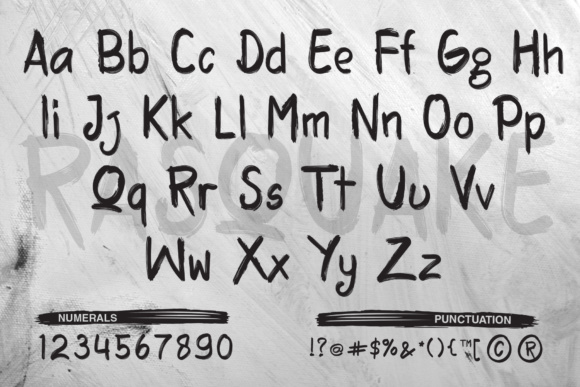 Print on Demand: Rasquake Display Font By DK Project - Image 2