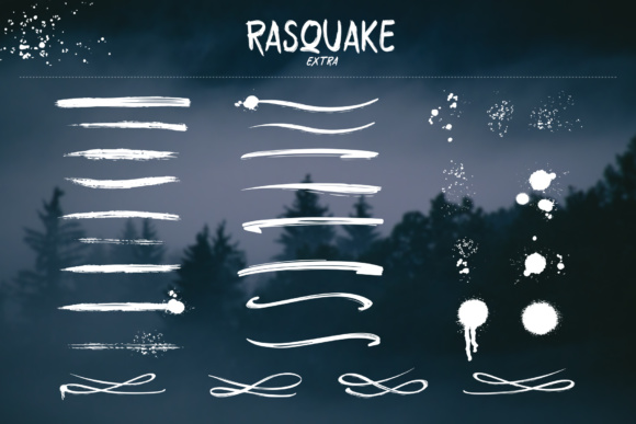 Print on Demand: Rasquake Display Font By DK Project - Image 4