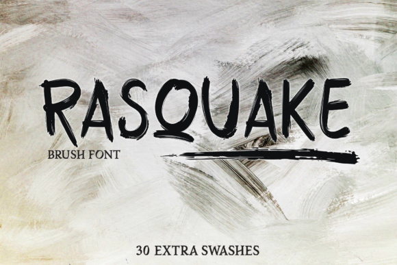 Rasquake Display Font By DK Project