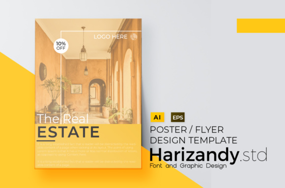 Real Estate Flyer Design Graphic Print Templates By harizandy - Image 2