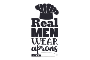 Real Men Wear Aprons Craft Design By Creative Fabrica Crafts