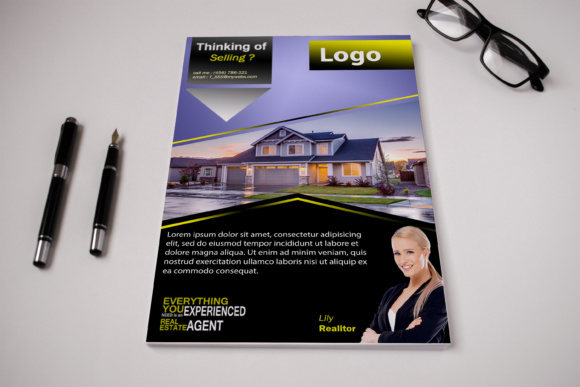 Print on Demand: Realtor Flyer Template Graphic Print Templates By Dawn Studio