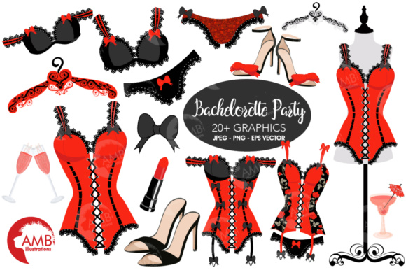 Red Bachelorette Clipart Graphic Illustrations By AMBillustrations