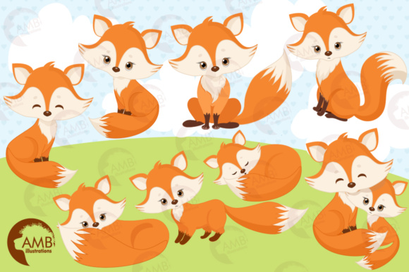 Red Foxes Clipart Graphic Illustrations By AMBillustrations - Image 4