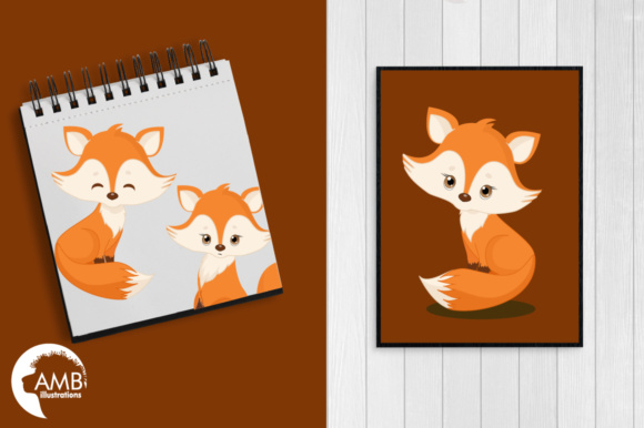 Red Foxes Clipart Graphic Illustrations By AMBillustrations - Image 5