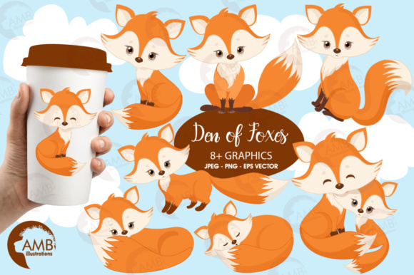 Red Foxes Clipart Graphic Illustrations By AMBillustrations - Image 1