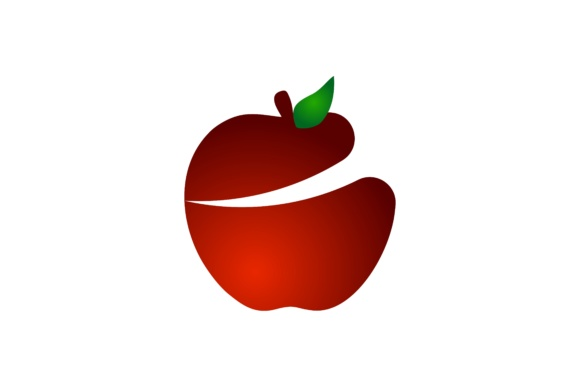 Download Free Red Apple Logo Graphic By Yahyaanasatokillah Creative Fabrica for Cricut Explore, Silhouette and other cutting machines.