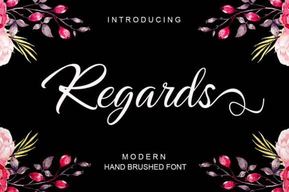 Regards Script & Handwritten Font By ayeelastudio