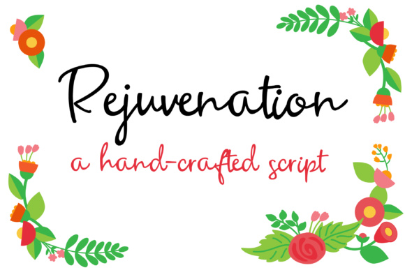 Print on Demand: Rejuvenation Script & Handwritten Font By Illustration Ink