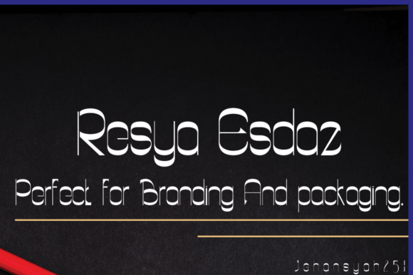 Print on Demand: Resya Esdaz Sans Serif Font By jehansyah251