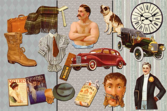 Print on Demand: Retro Men Clipart Graphic Illustrations By retrowalldecor