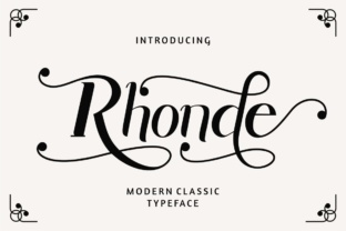 Rhonde Font By putracetol