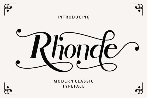 Print on Demand: Rhonde Display Font By putracetol