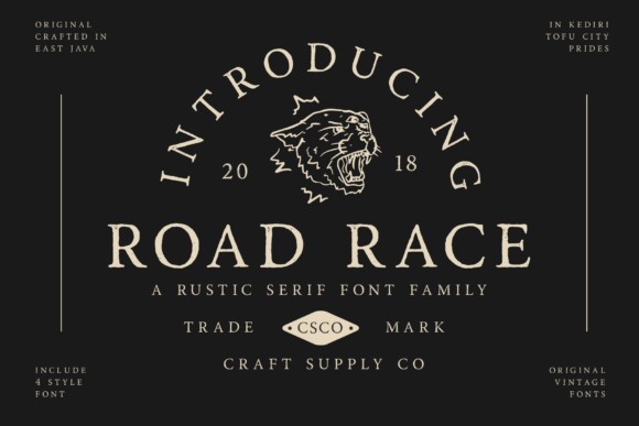 Print on Demand: Road Race Family Serif Font By craftsupplyco