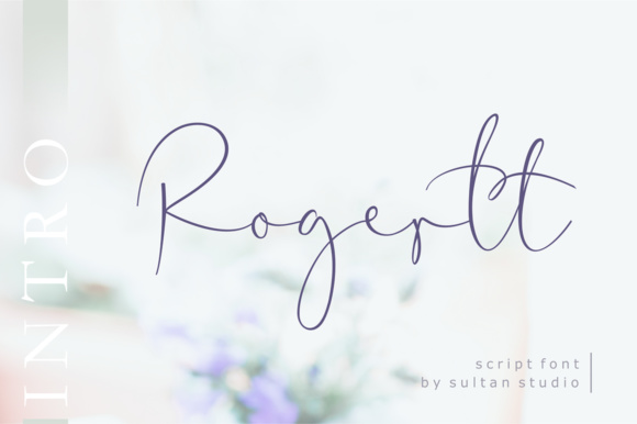 Print on Demand: Rogertt Script & Handwritten Font By Sulthan Studio