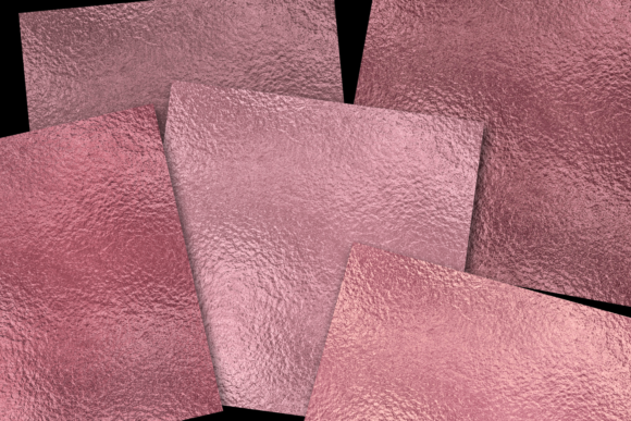 Print on Demand: Rose Gold Foils Graphic Textures By JulieCampbellDesigns - Image 2